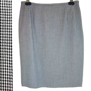 Houndstooth Pencil Skirt career professional wear